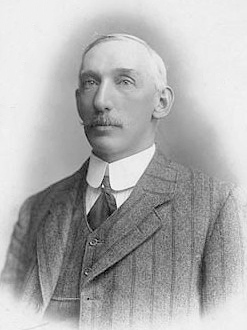 Trumble in later years, when he was secretary of the Melbourne Cricket Club HughTrumbleOlder.jpg