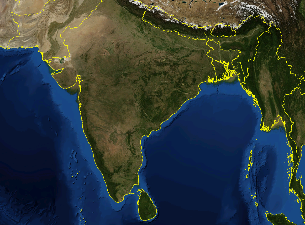 Satellite Map Of India File:India satellite image.png   Wikipedia Satellite Map Of India