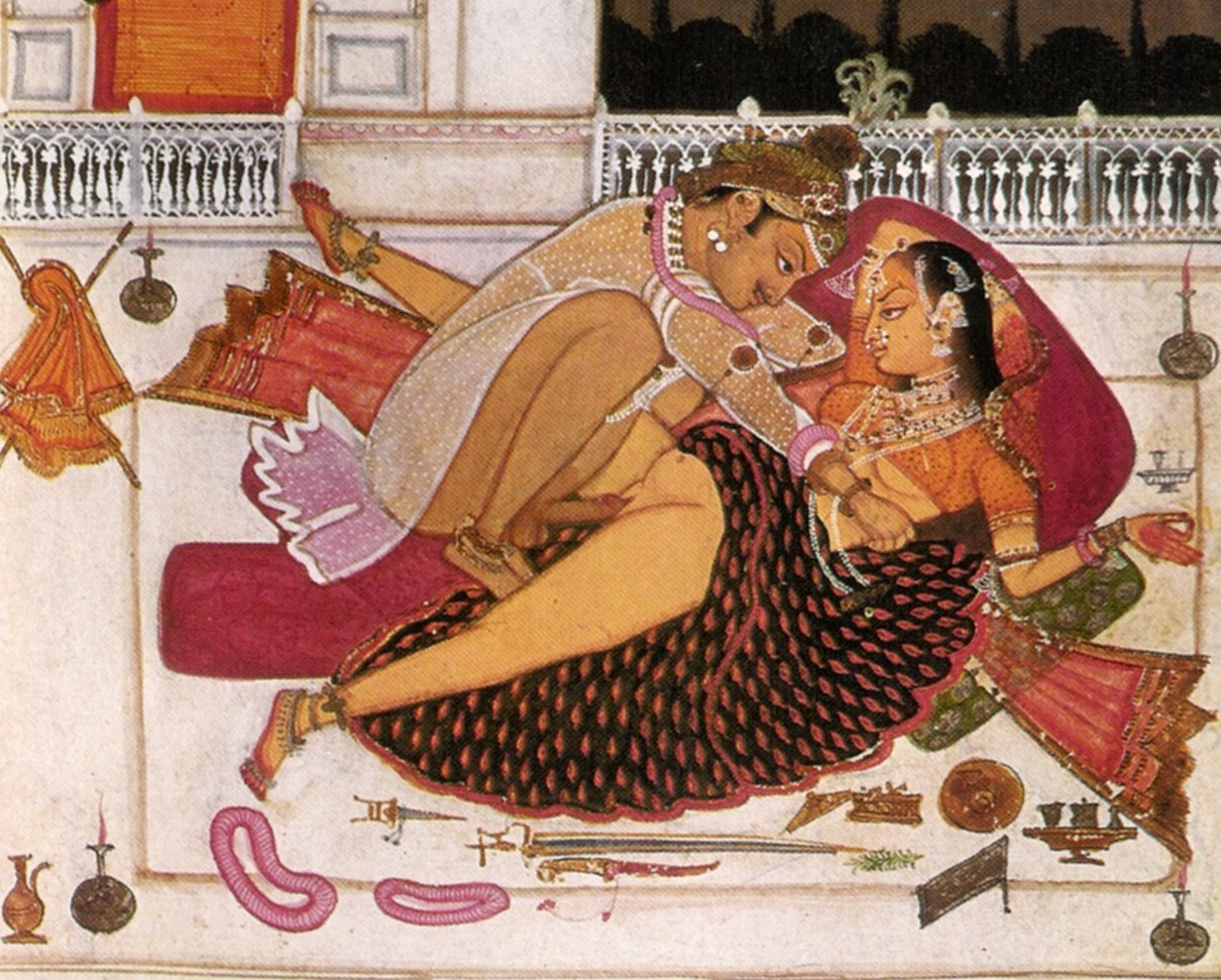 Ancient indian erotic painting