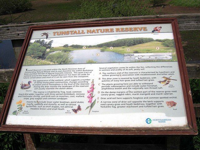Information board Tunstall Nature Reserve - geograph.org.uk - 1326938