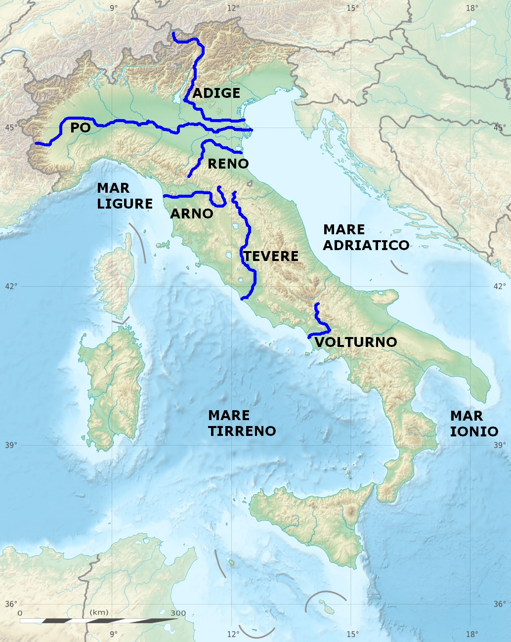 List of rivers of Italy Wikipedia