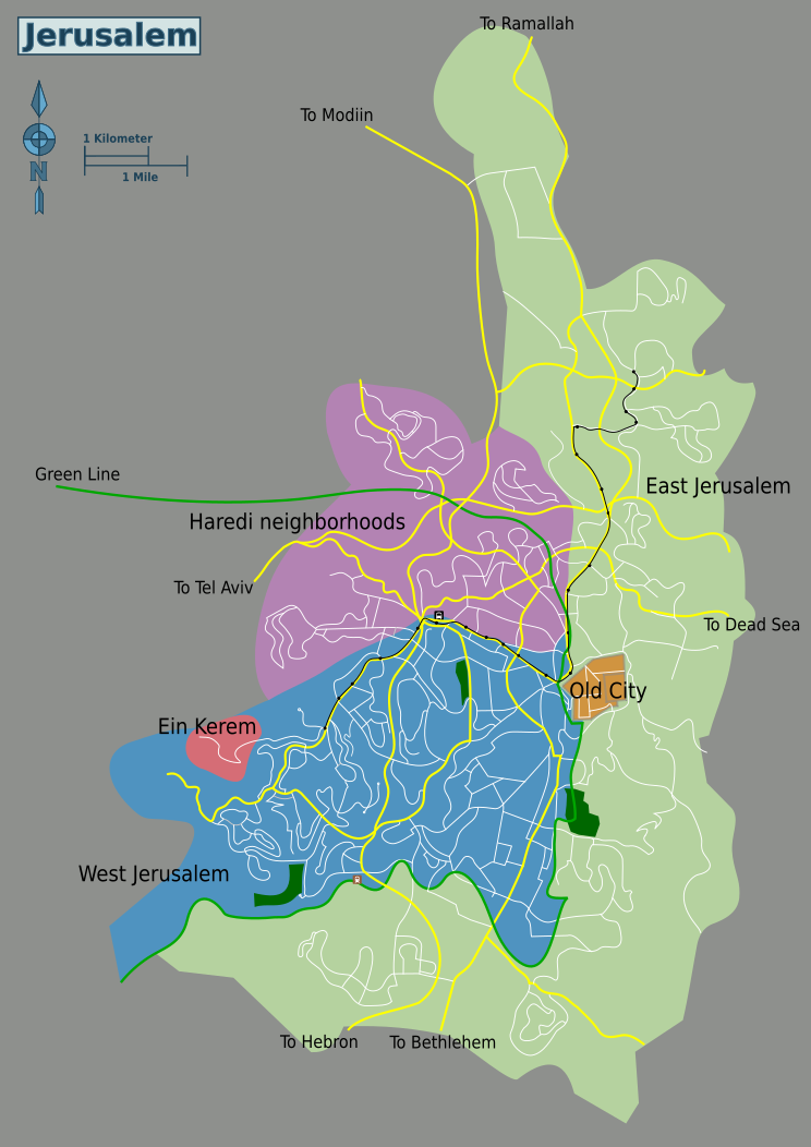 Jerusalem Travel Guide At Wikivoyage