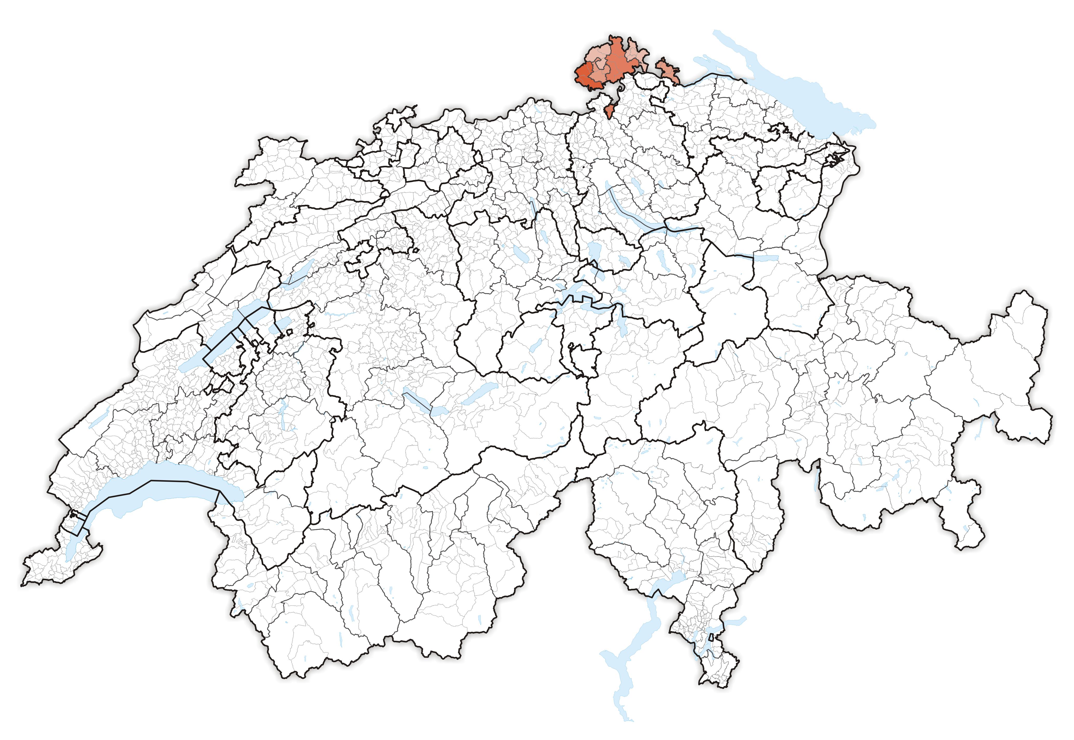 Schaffhausen Switzerland Map