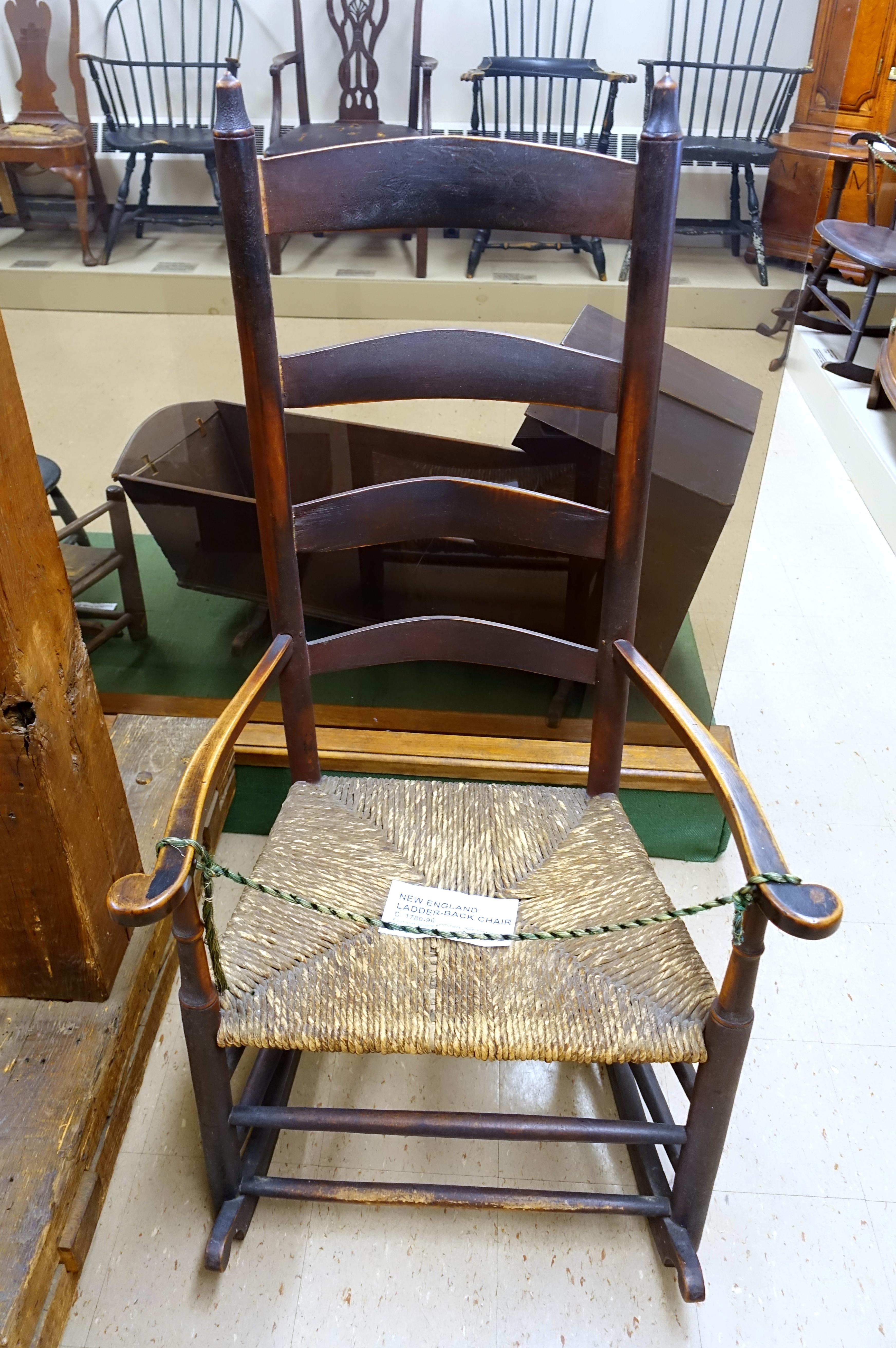Picture of: File Ladder Back Chair New England C 1780 1790 Dedham Historical Society Dedham Massachusetts Dsc04199 Jpg Wikimedia Commons