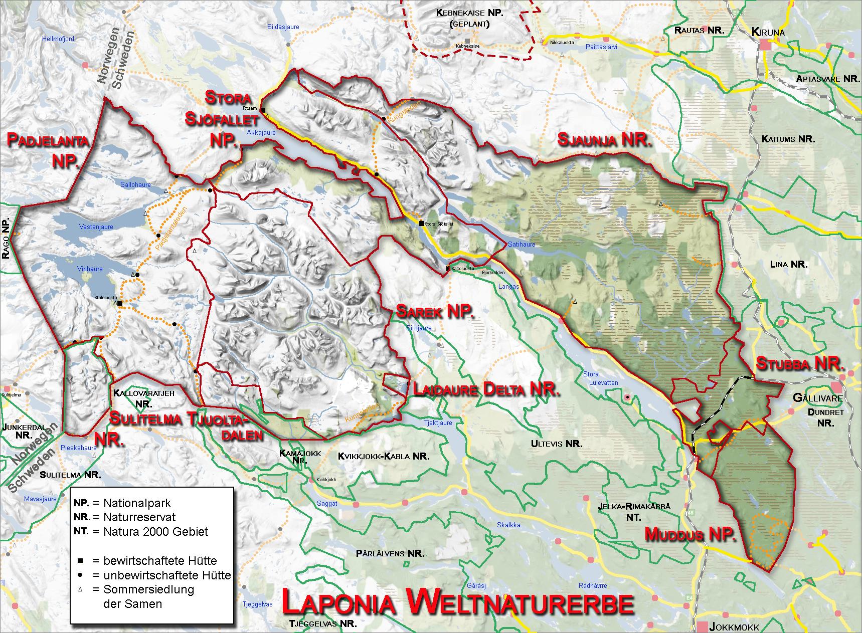 Schweden Karte Pdf.Nationalpark Sarek Wikipedia