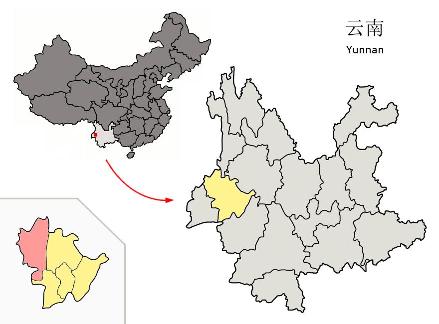File:Location of Tengchong within Yunnan (China).png - Wikimedia ...