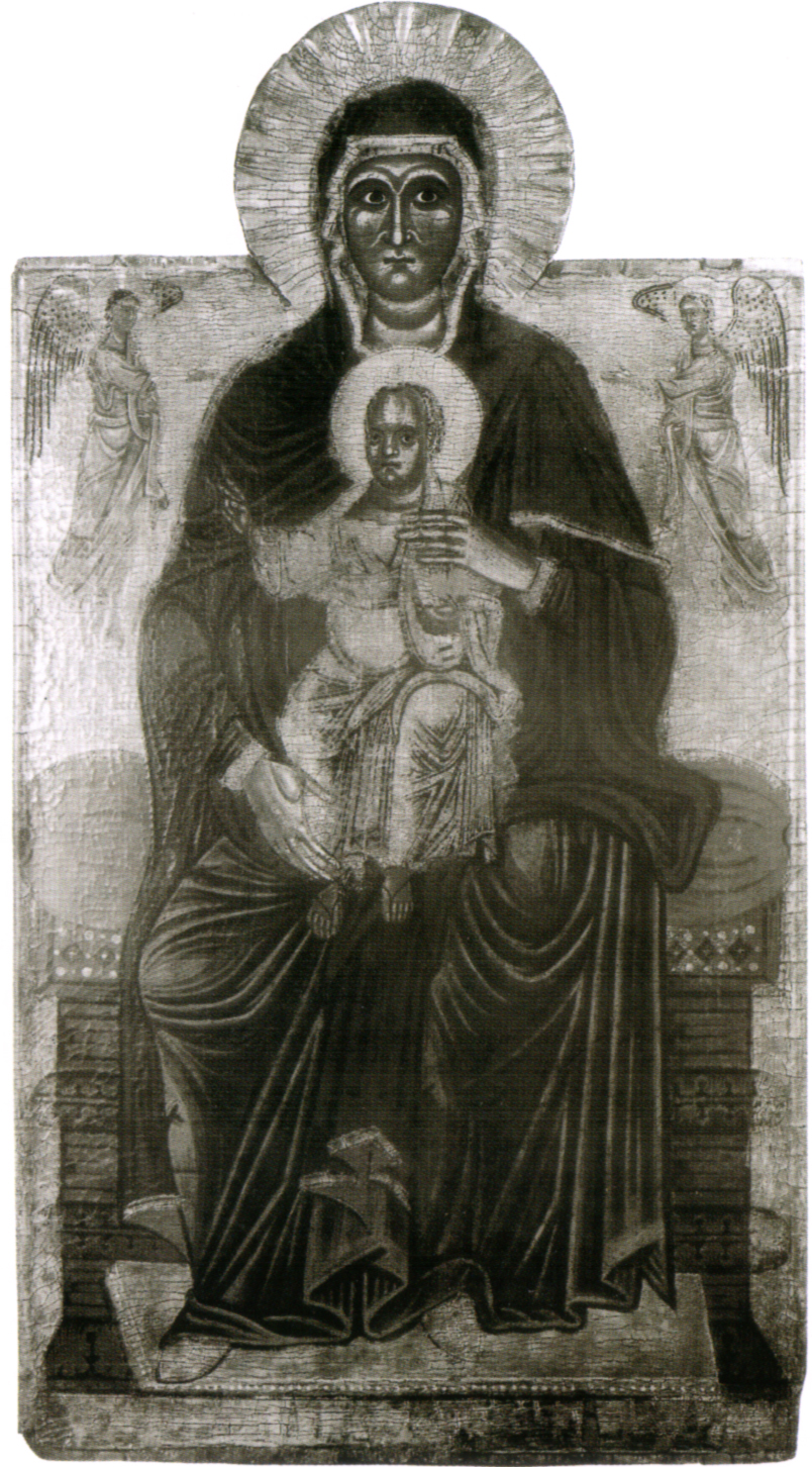 file maestro del bigallo madonna in trono col bambino e due angeli nantes musee des beaux. Black Bedroom Furniture Sets. Home Design Ideas