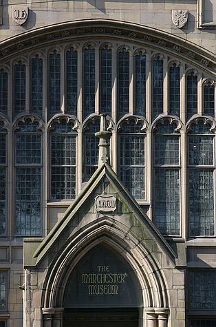 The former main entrance of Manchester Museum Manchester Museum by Nick Higham.jpg