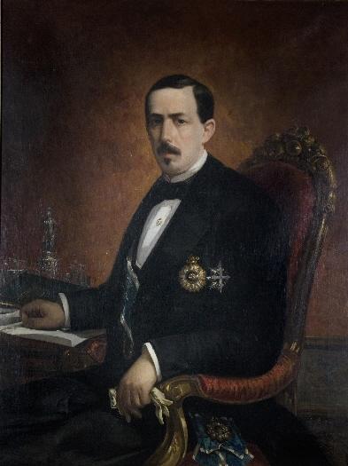 Ruiz Zorrilla retratado por Cosme Algarra (1869)