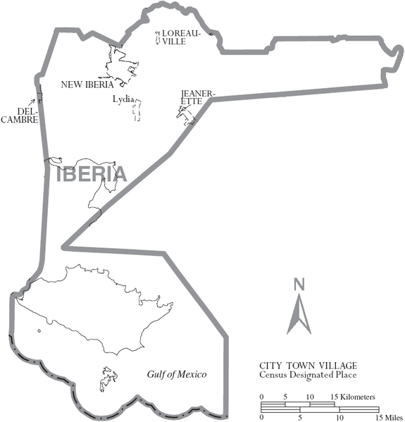 FileMap of Iberia Parish Louisiana With Municipal LabelsPNG
