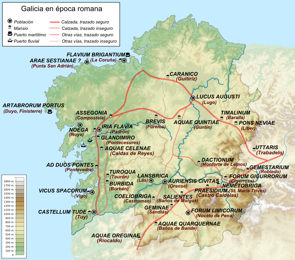 Mapa De La Coruña Galicia España.Archivo Mapa Galicia Epoca Romana Png Wikipedia La