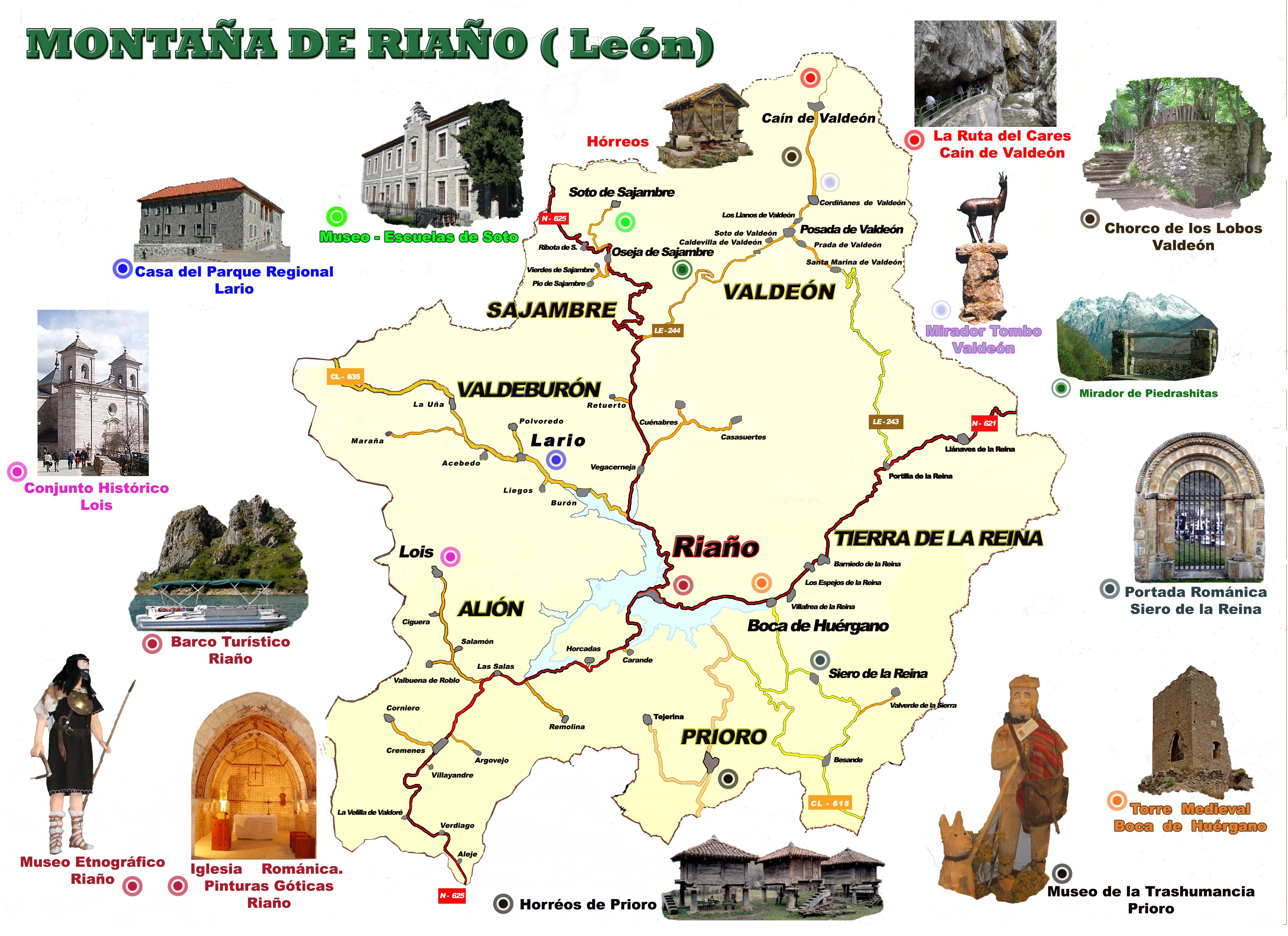 File Mapa Turistico De La Montana De Riano Jpg Wikimedia Commons