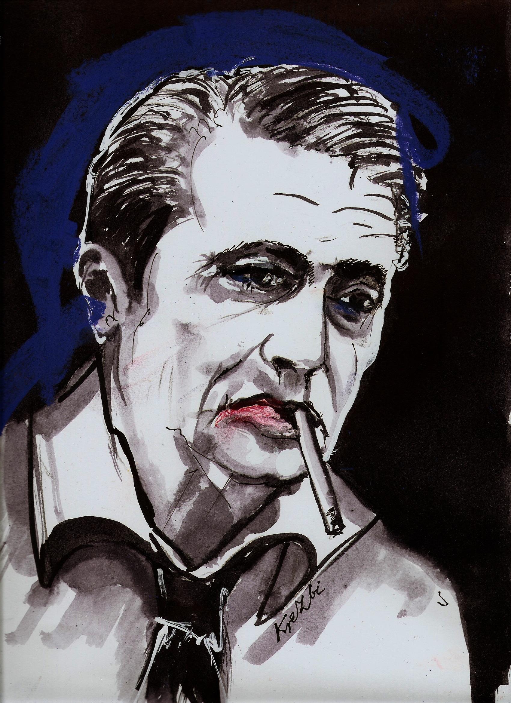 portrait of Marek Hłasko<br/>by Zbigniew Kresowaty