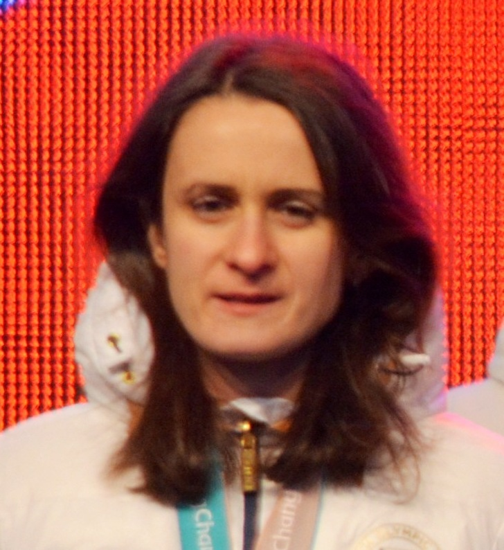 Olympia 1.OS Gold 2014 Foto signiert Eisschnelllauf CZE Martina SABLIKOVA