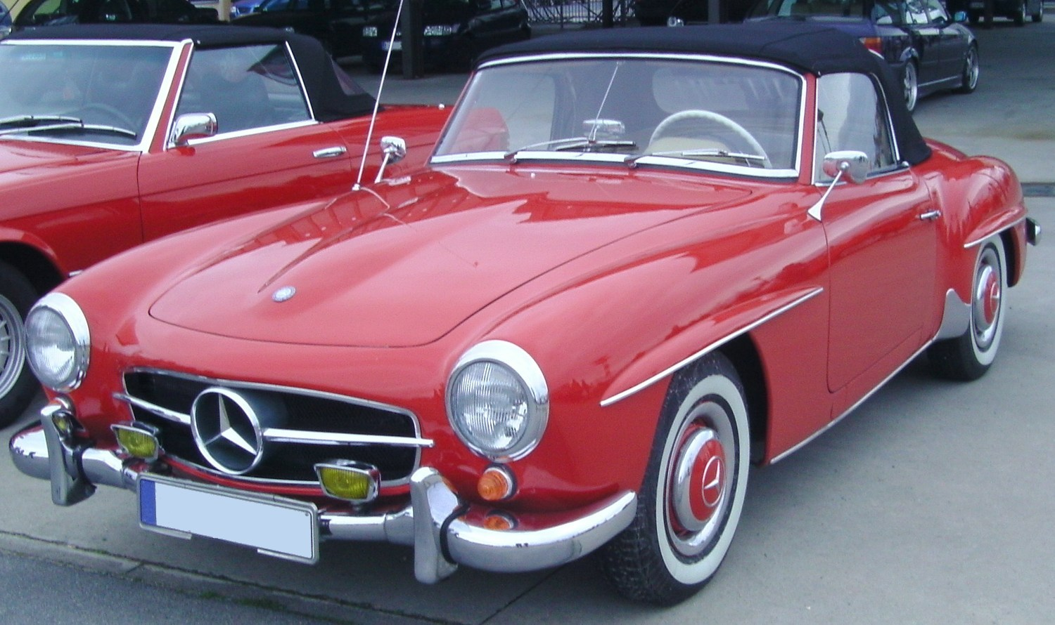 File mercedes benz 190 sl red wikimedia commons for Mercedes benz com mx mexico