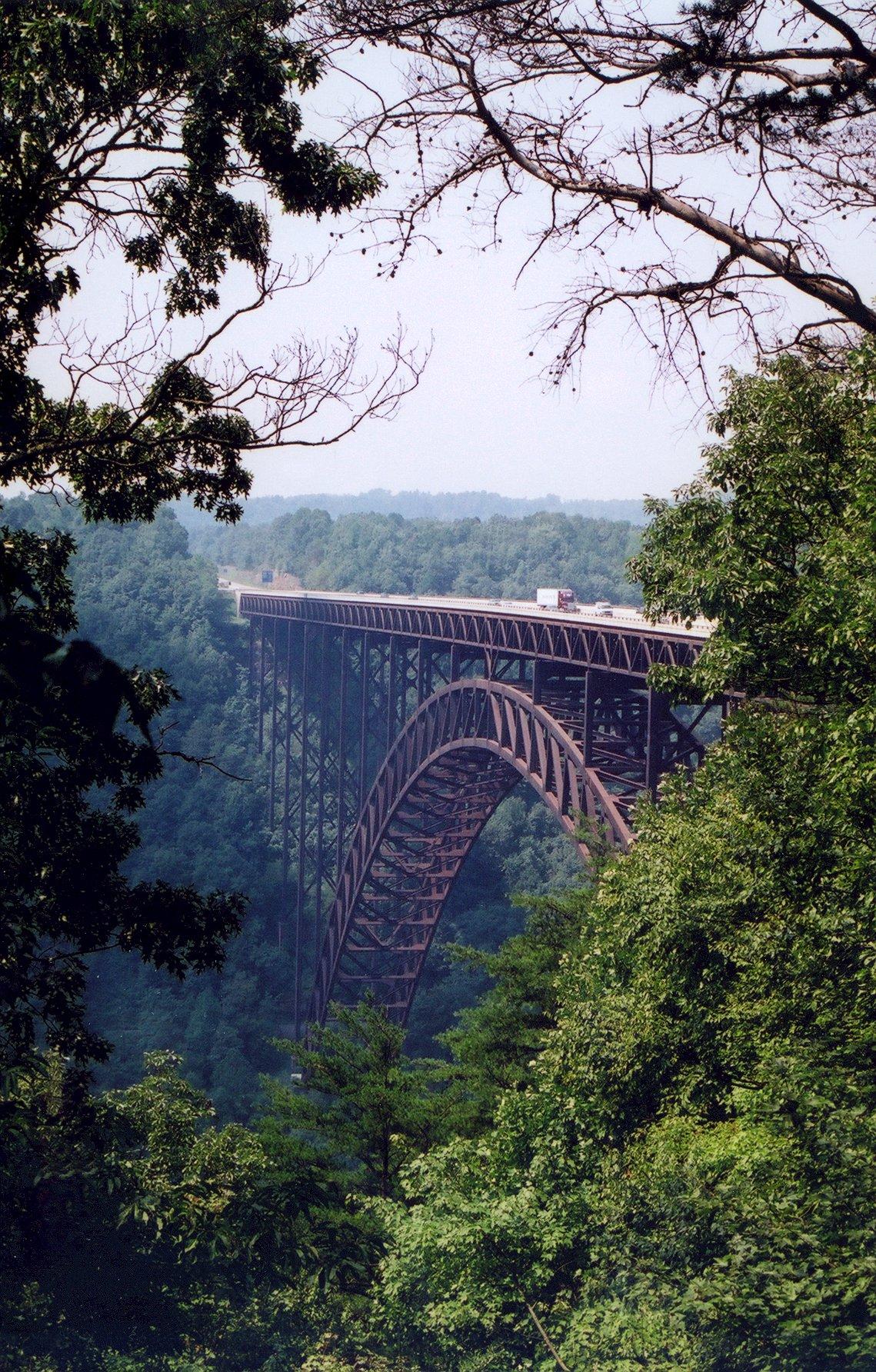 The New River Gorge Bridge.