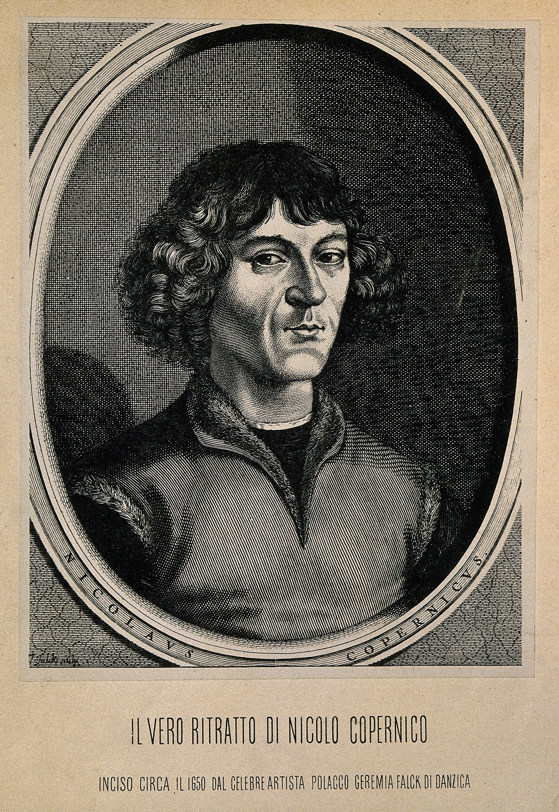 Nicolaus Copernicus. Reproduction of line engraving after J. Wellcome V0001267.jpg