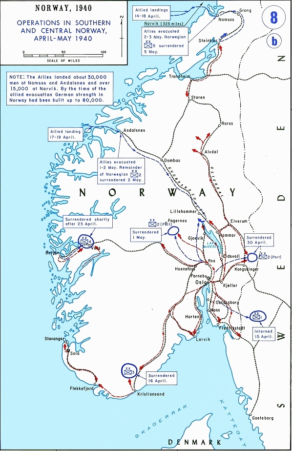 Military land operations in southern and central Norway in April and May 1940 NorwegianGroundCampaign.jpg