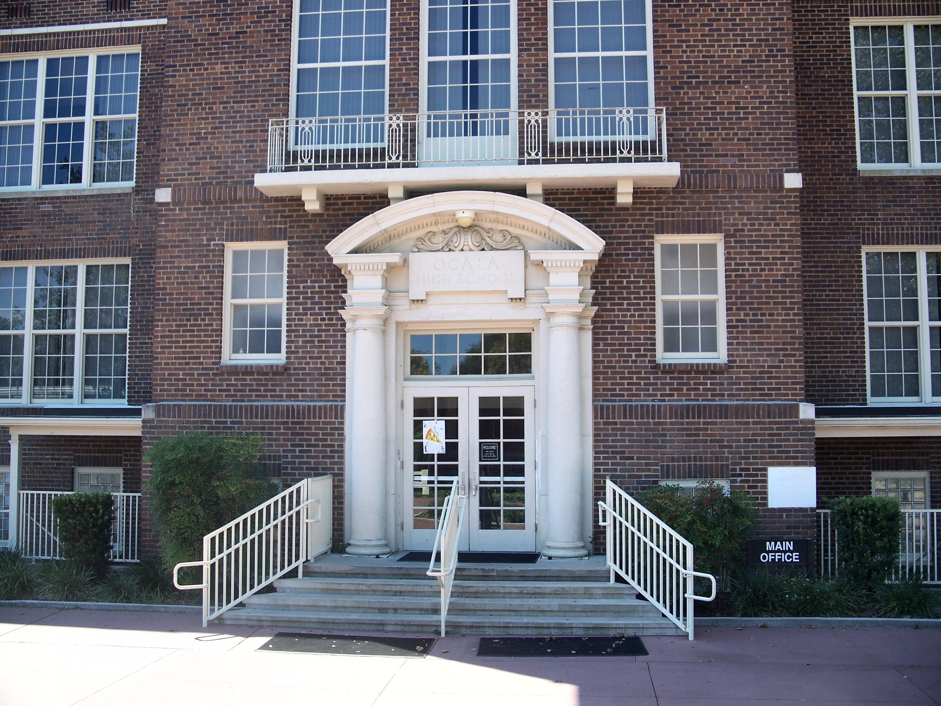 File:Ocala Hist Dist Osceola Middle School Door01