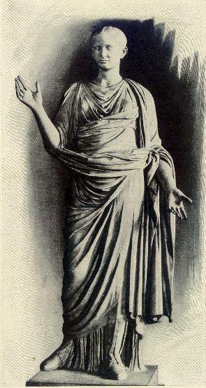 A statue of Octavia minor