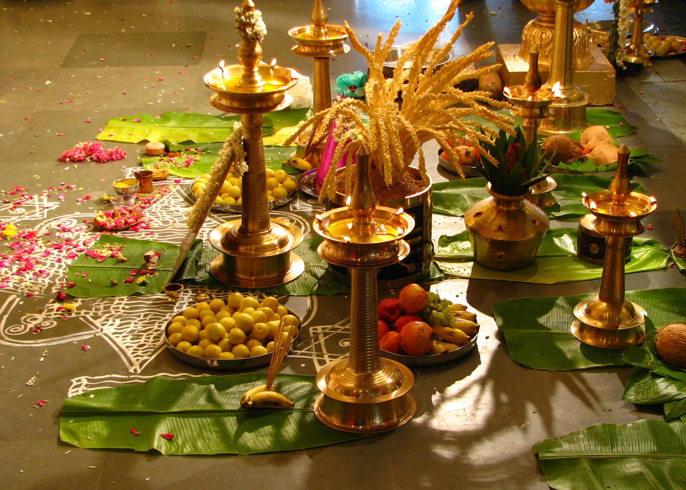 File:Offerings at a Hindu wedding.jpg