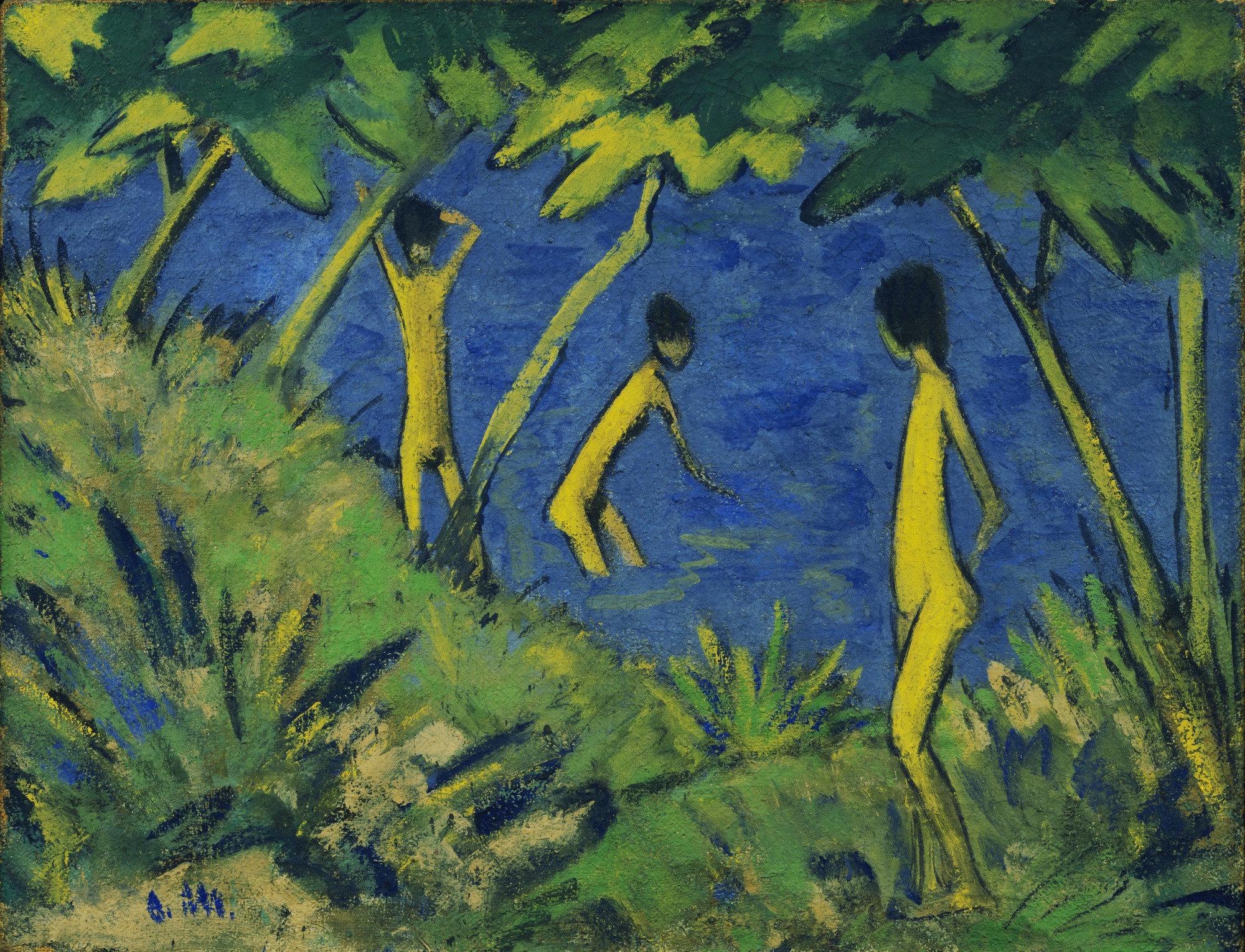 Otto Mueller, Landscape with Yellow Nudes (Landschaft Mit Gelben Akten),