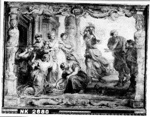 Achilles herkend onder de dochters van Lycomedes