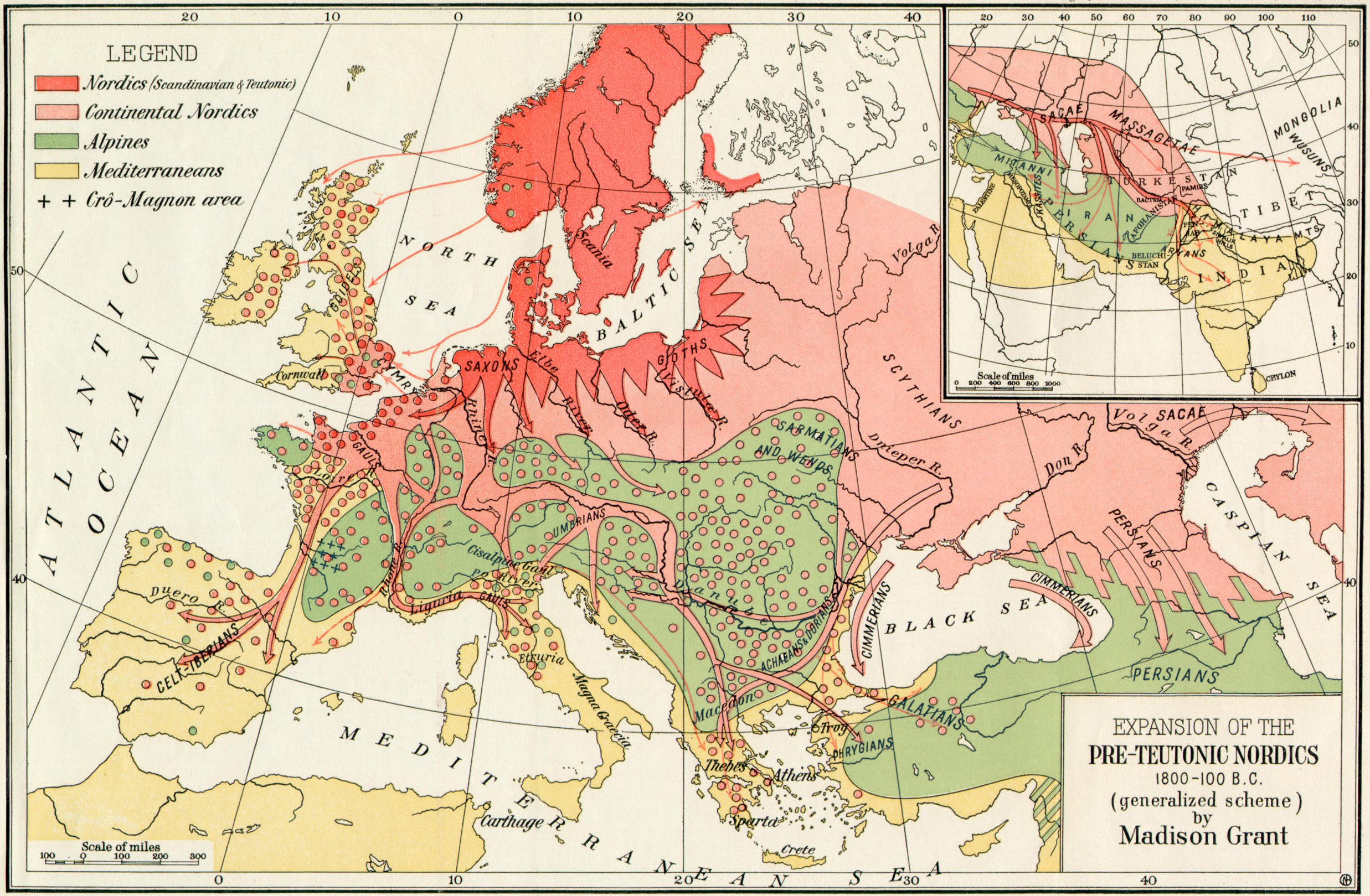 Historical maps of europe europe expansion of the pre teutonic nordics gumiabroncs Choice Image