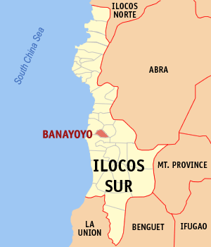 Mapa na Ilocos ed Abalaten ya nanengneng so location na Banayoyo