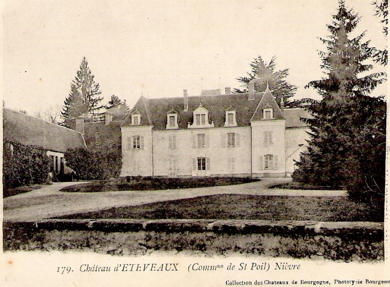 Carte Chateau Bourgogne.File Poil Village Chateau D Ettevaux Carte Postale Jpg