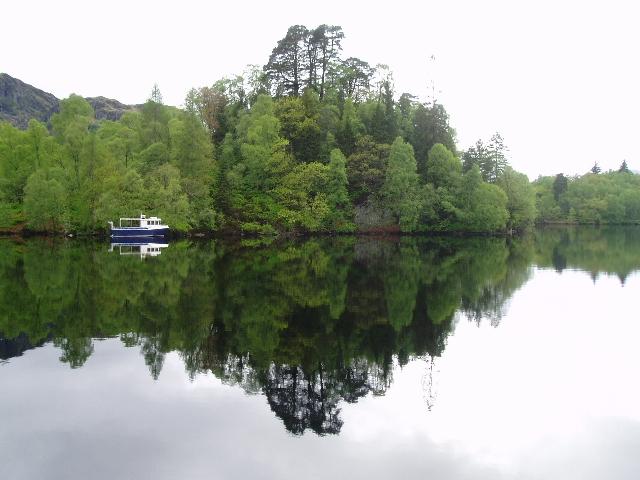 Reflections on Loch Katrine - geograph.org.uk - 173019