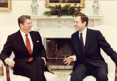 Hatch with President Ronald Reagan