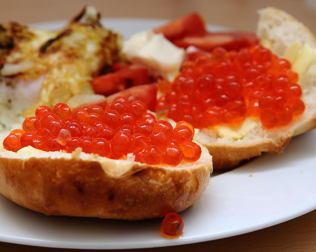 Salmon Roe: File:Salmon Caviar.jpg
