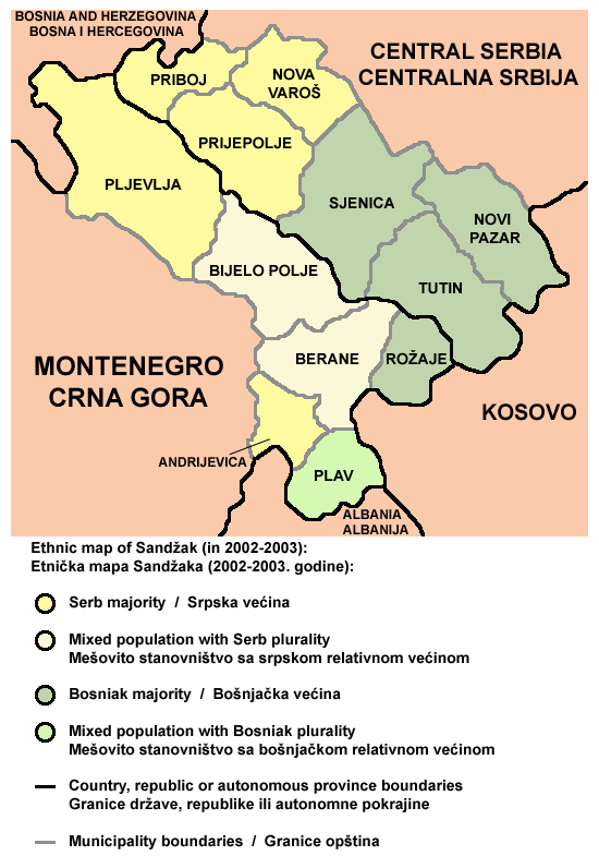 berane crna gora mapa File:Sandzak ethnic map.png   Wikimedia Commons berane crna gora mapa