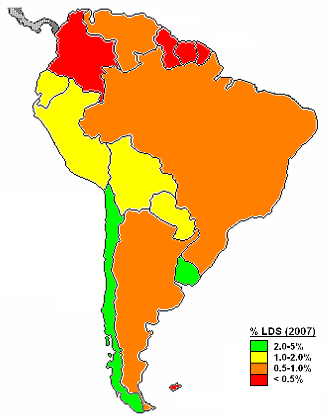 South America Population Map - South american population map