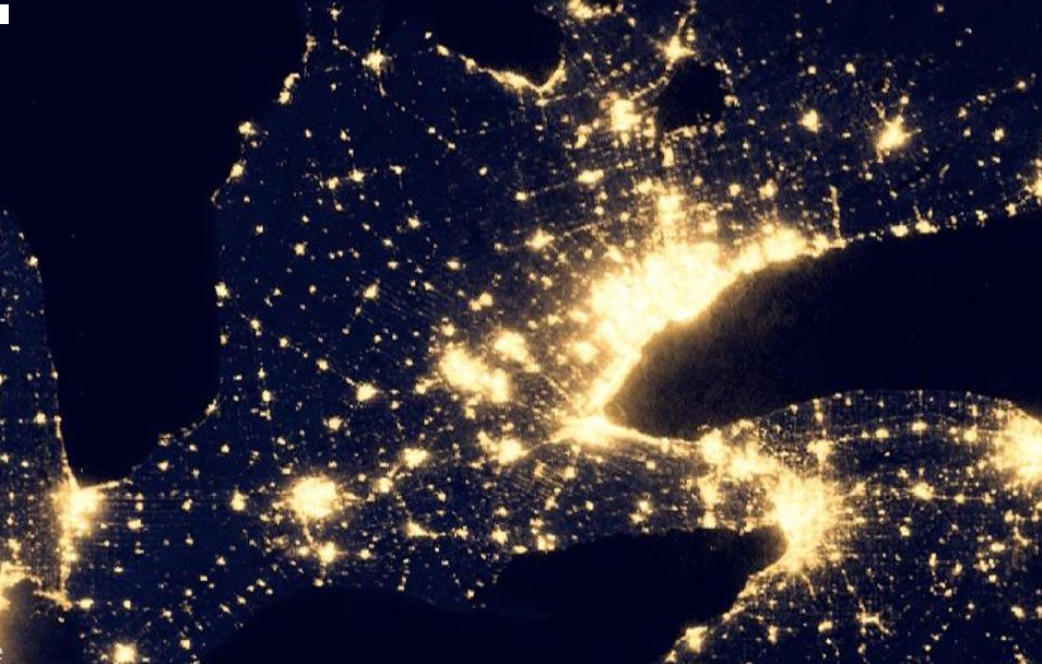 Us Night Lights From Space - Ancora.store •