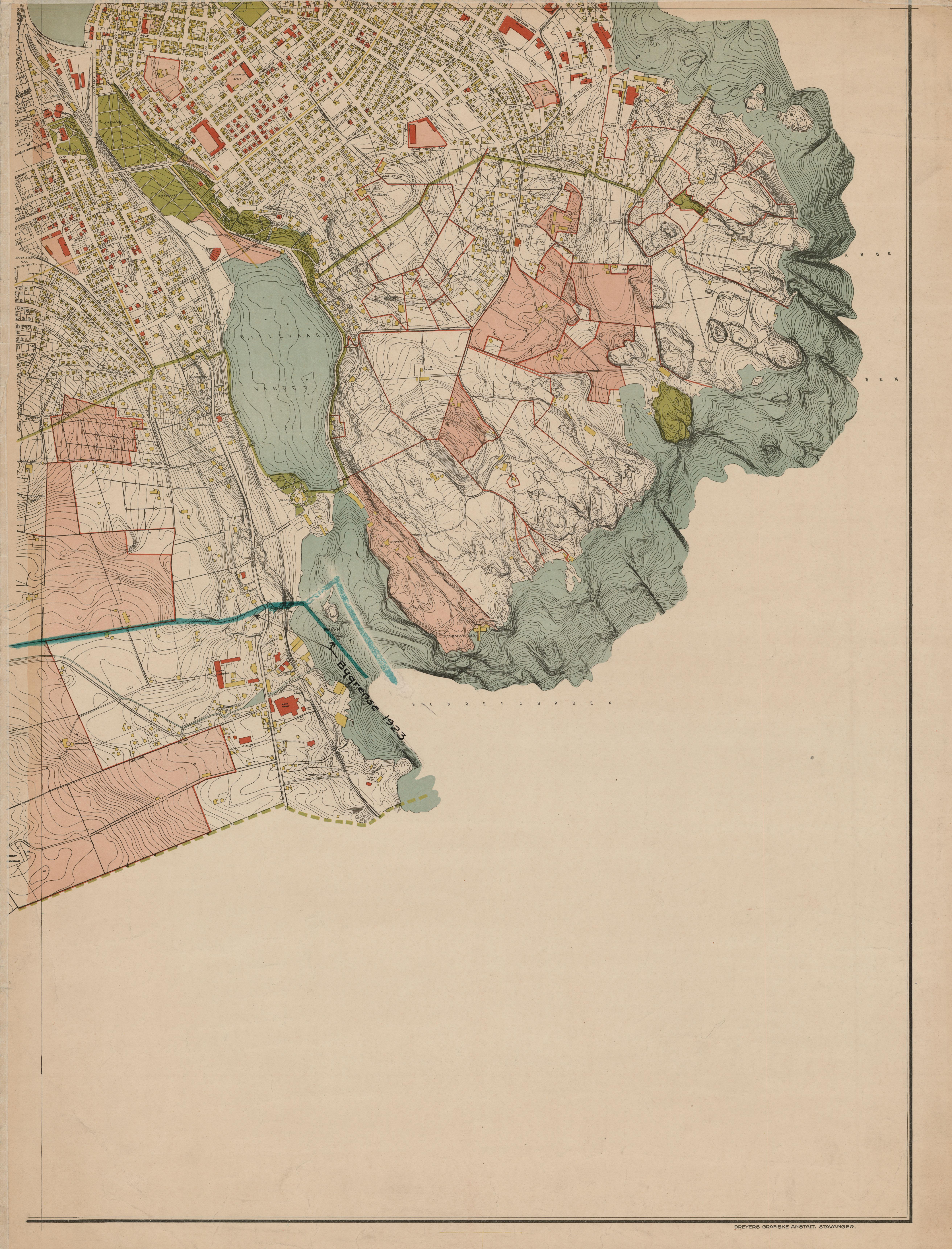 kart stavanger og omegn File:Stavanger amt nr 28 sø  Kart over Stavanger med nærmeste  kart stavanger og omegn