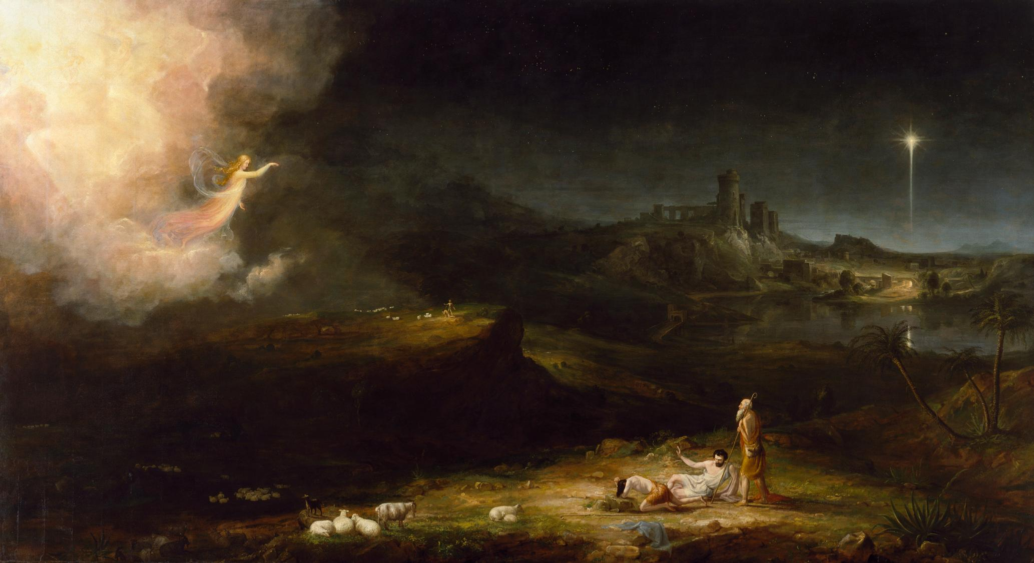 Image result for thomas cole angel appearing to the shepherds