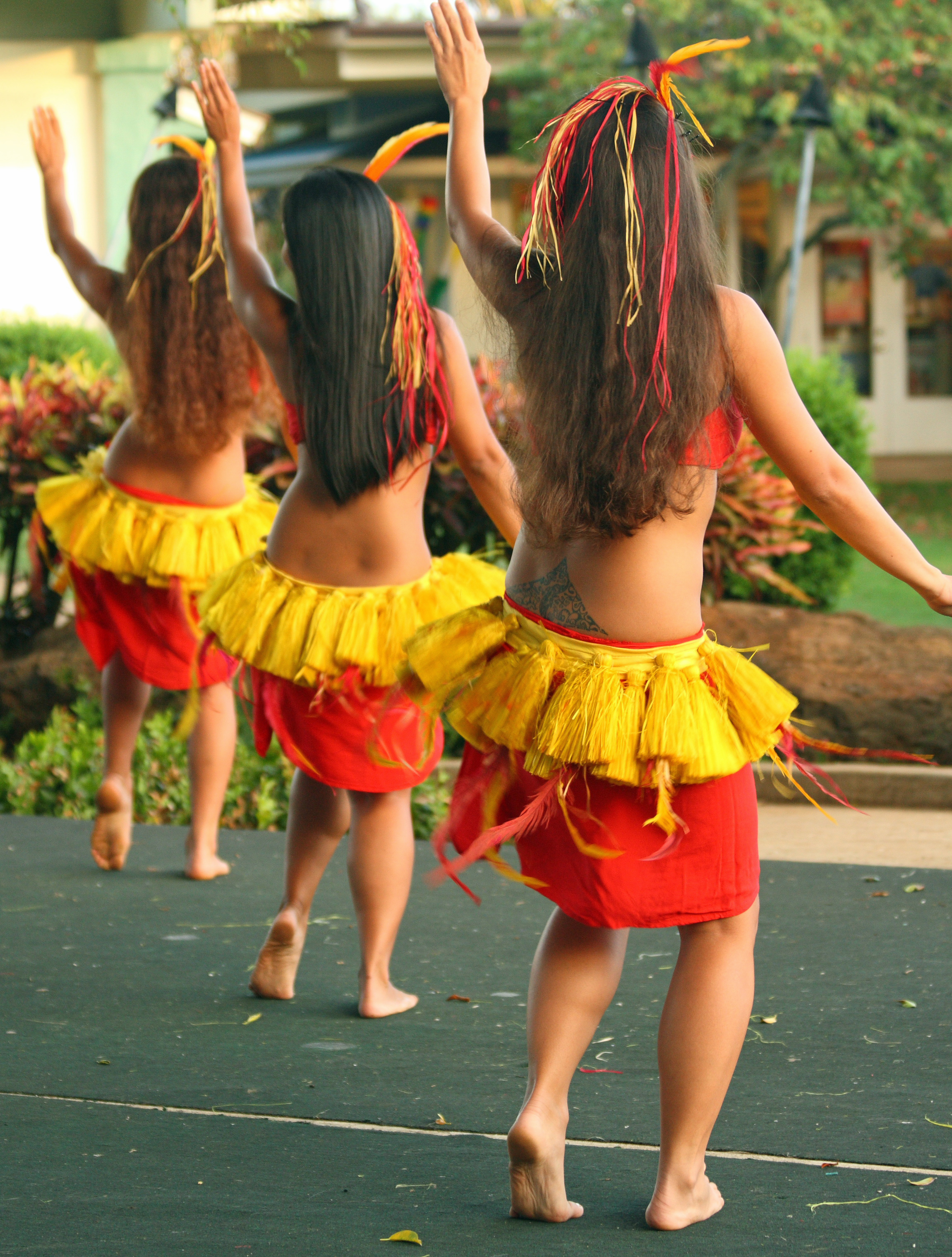 Naked hula dance agree