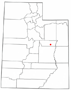 Location of Sunnyside, Utah
