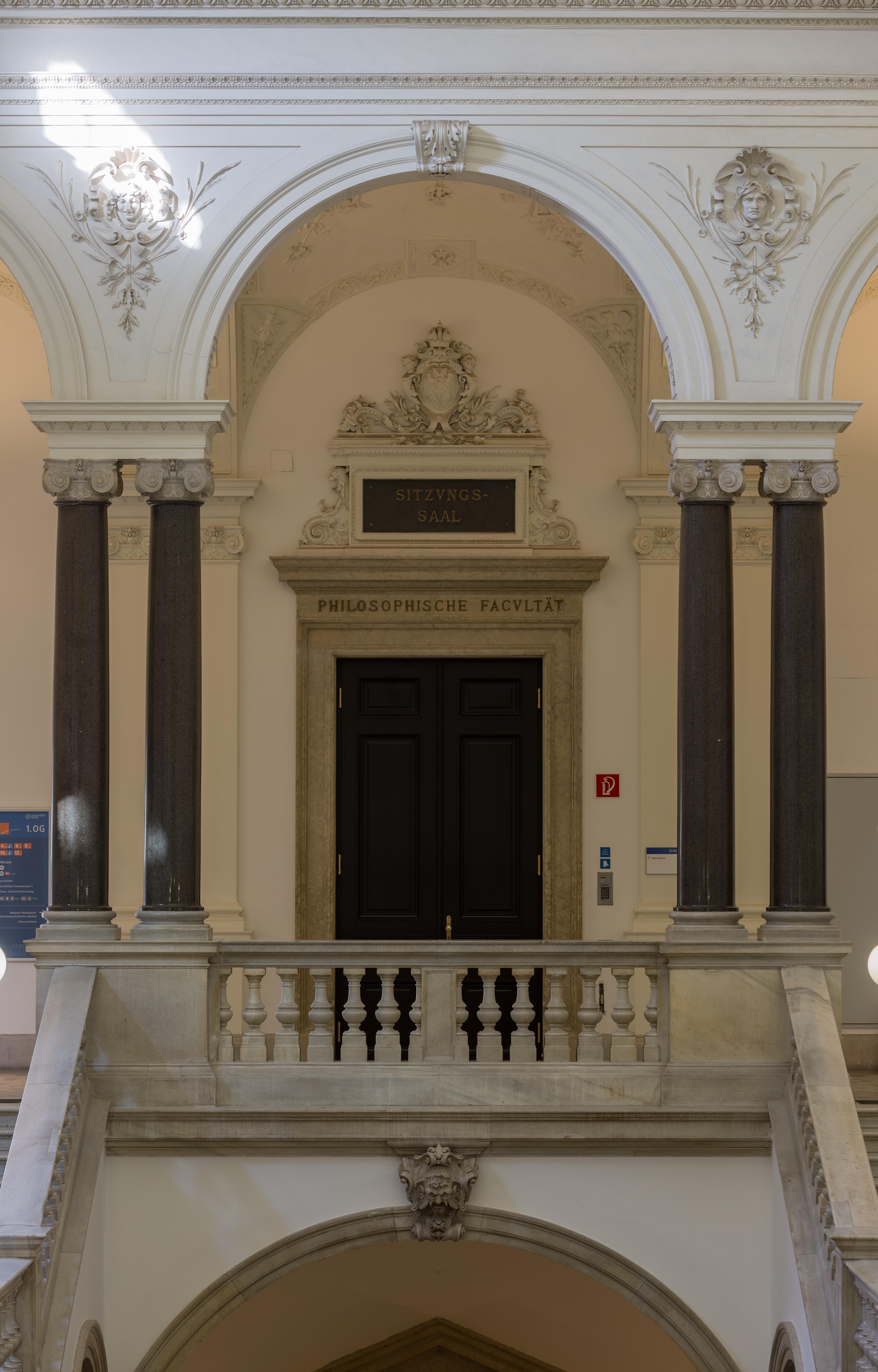Fileuniversität Wien Vestibül Großer Festsaal Stiegenhaus 2146