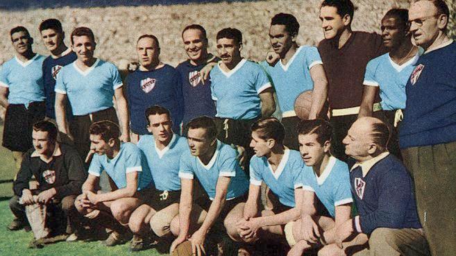Seleção uruguaia de 1950.