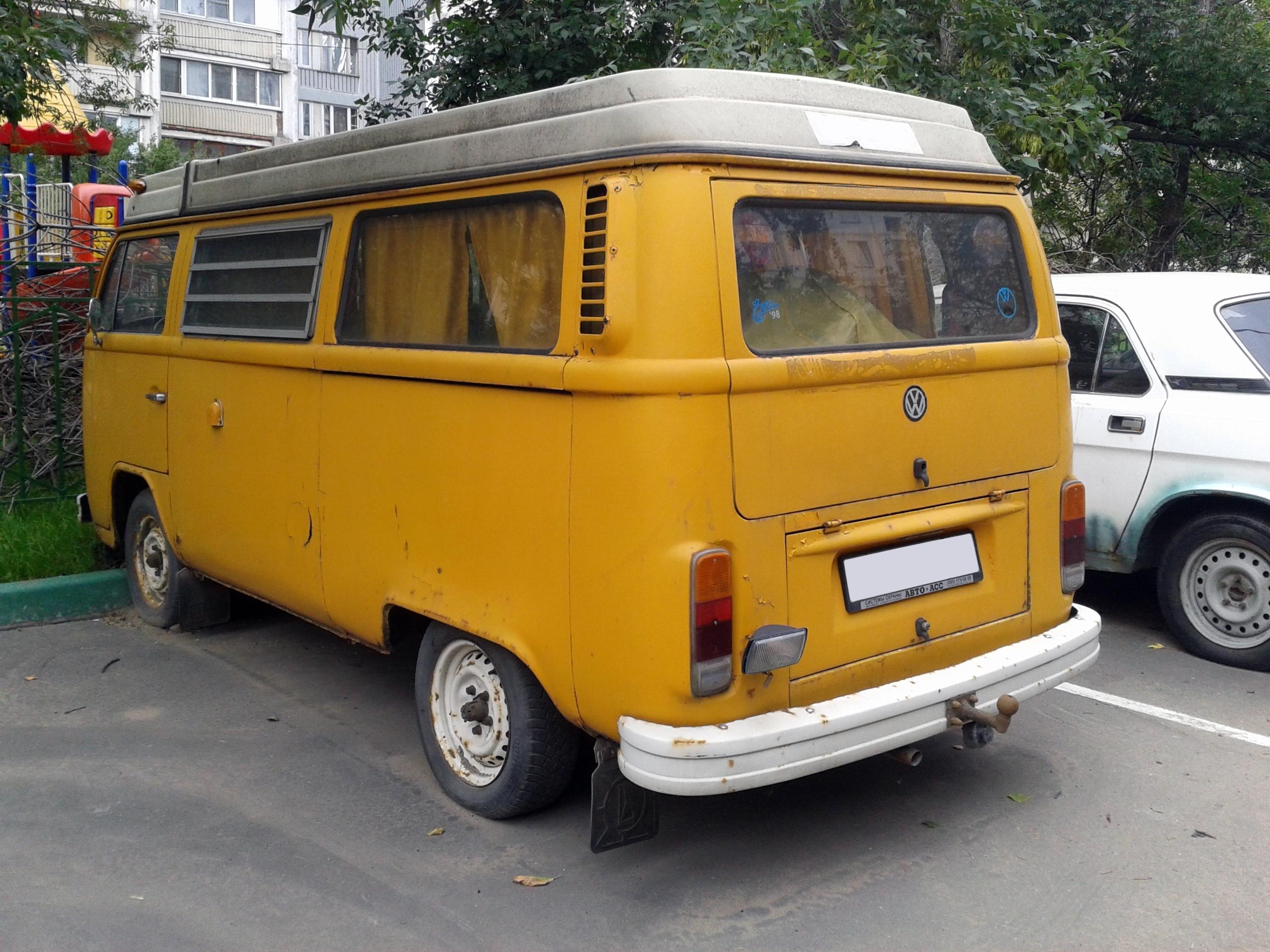 File Volkswagen T2 1972 1979 In Russia Rear View Jpg