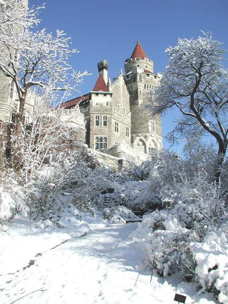 winter at casa loma castle, Toronto