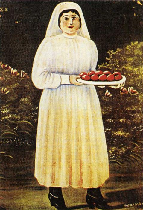 ქალი სააღდგომო კვერცხებით, ნიკო ფიროსმანი.jpg