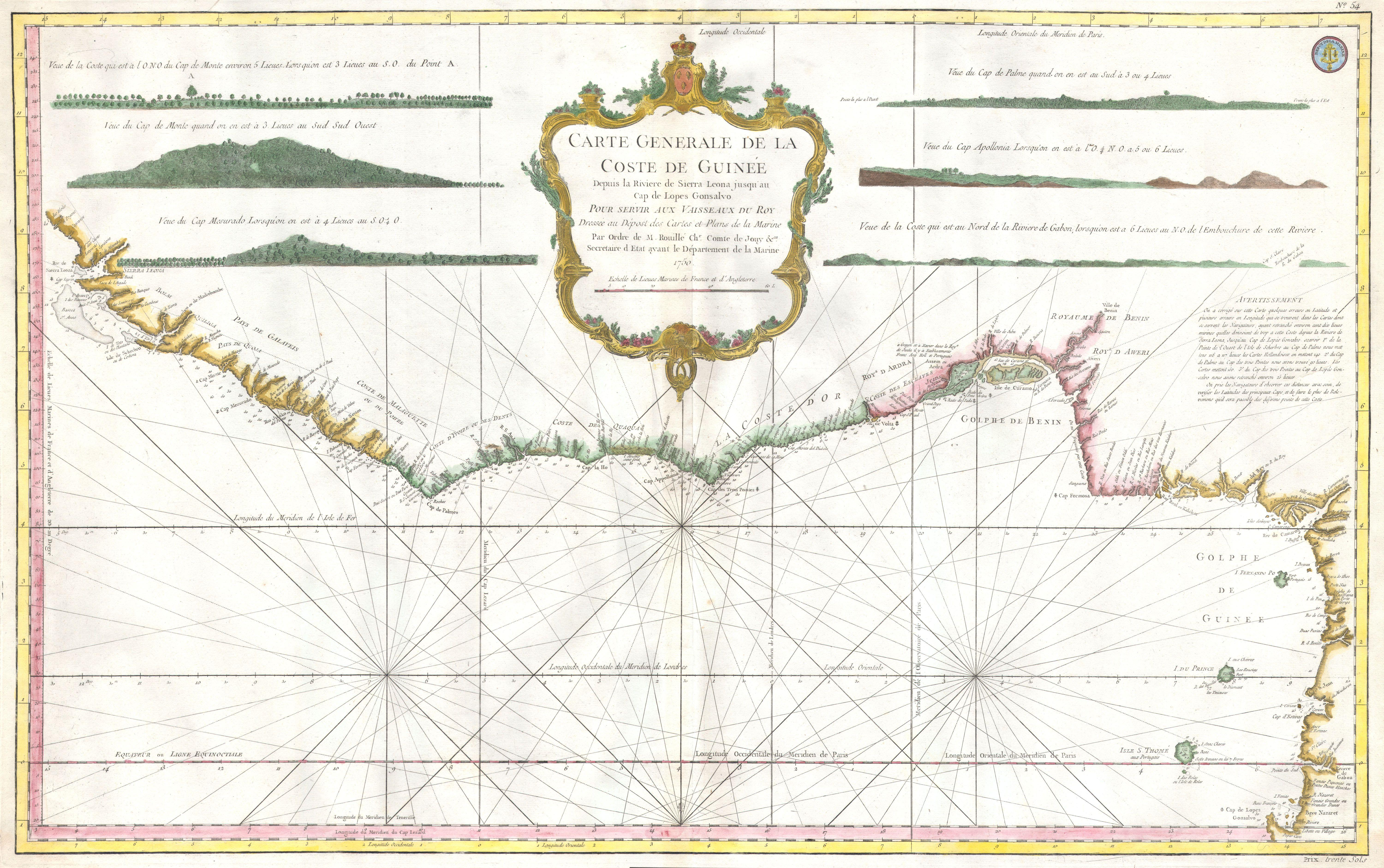 West Africa Benin Map.File 1765 Bonne Map Of West Africa The Gulf Of Guinea And