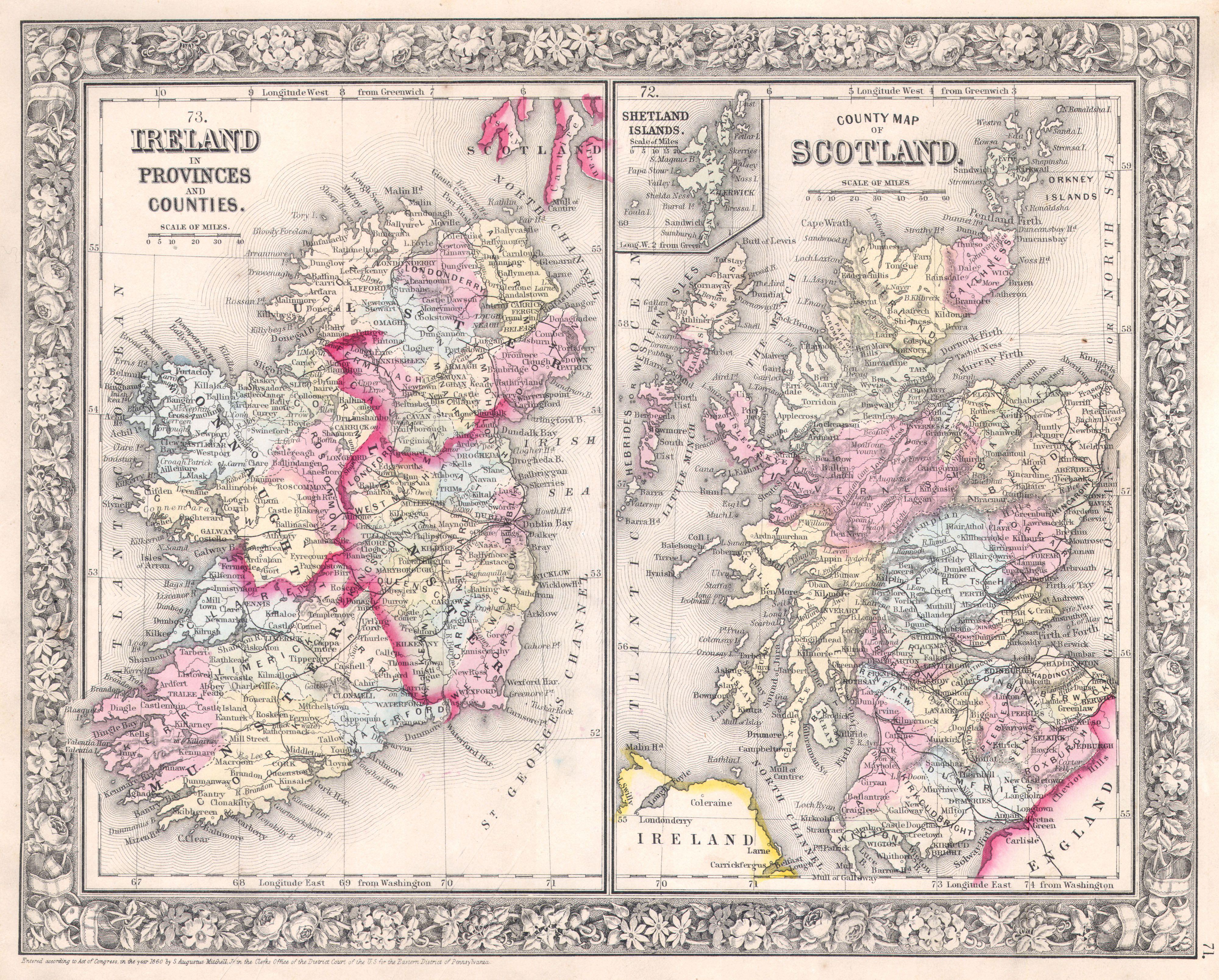 Map Of Ireland And Scotland.File 1864 Mitchell Map Of Ireland And Scotland Geographicus