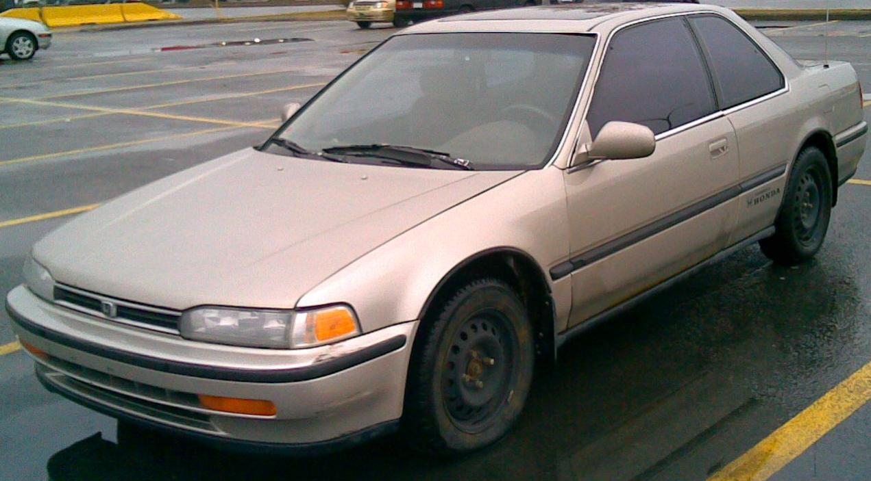 White Honda Accord >> File:1992-93 Honda Accord Coupe.jpg - Wikimedia Commons