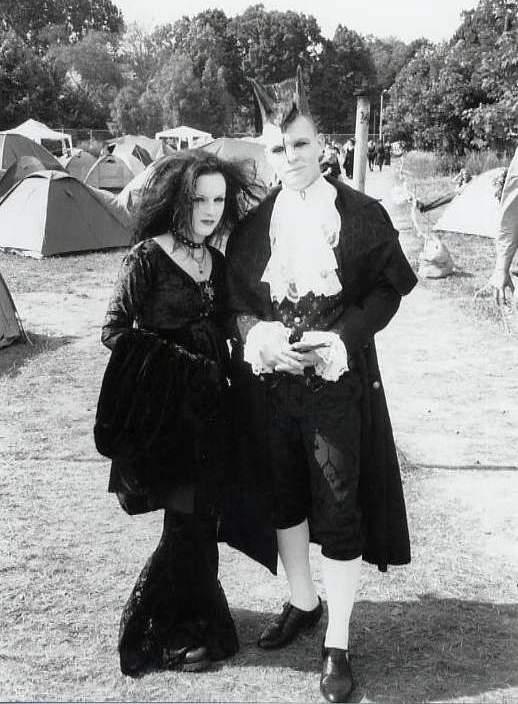 Gothic music liefhebbers op het festival