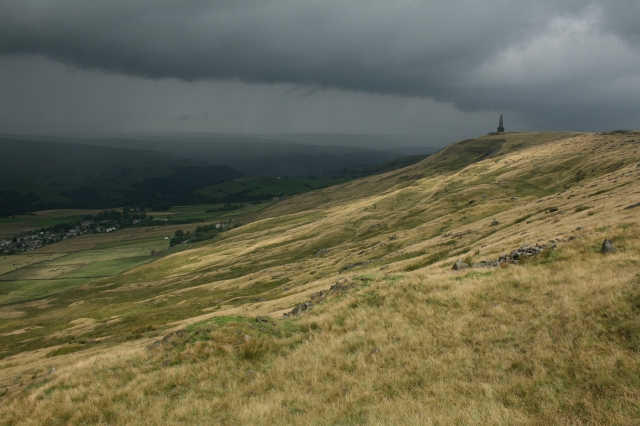 A Storm Brews Over Stoodley Pike. - geograph.org.uk - 502521